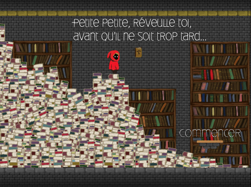 Il etait..., a game created without programming with GDevelop